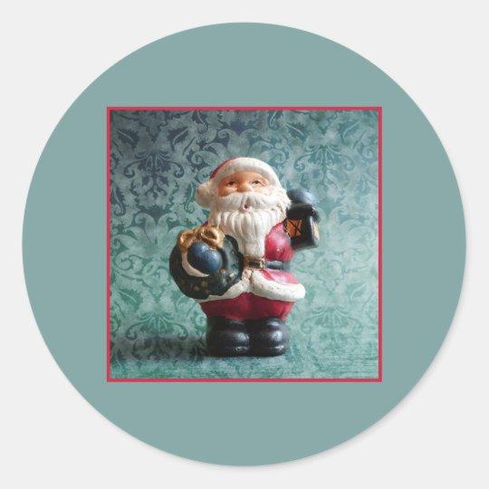 Small Santa Claus figure_R1.2 Classic Round Sticker