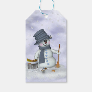 Small Schneemann clears up Gift Tags