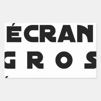 Small screen, LARGE EGOS - Word games Rectangular Sticker