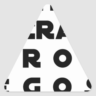 Small screen, LARGE EGOS - Word games Triangle Sticker