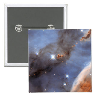 Small Section of the Carina Nebula 15 Cm Square Badge