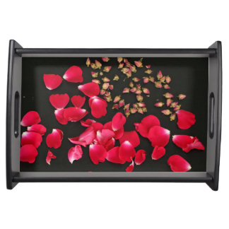 Small Serving Tray Red Rose
