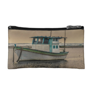 Small Ship at Ocean Porto Galinhas Brazil Cosmetic Bags