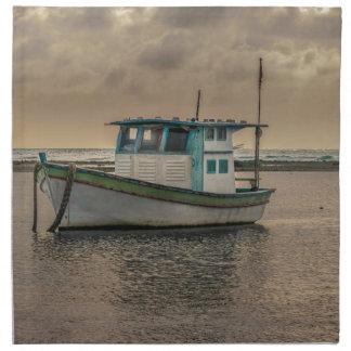 Small Ship at Ocean Porto Galinhas Brazil Napkin