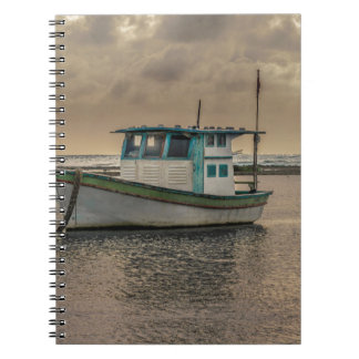 Small Ship at Ocean Porto Galinhas Brazil Notebook