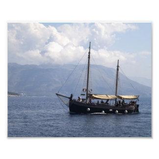 Small Ship Photographic Print