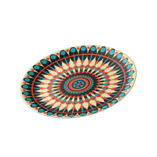 Small Sienna plate Porcelain Plate