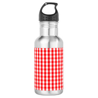 Small Snow White and Christmas Red Gingham Check 532 Ml Water Bottle