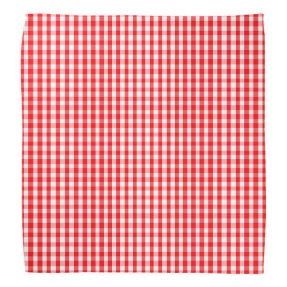 Small Snow White and Christmas Red Gingham Check Bandana