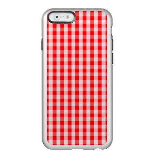 Small Snow White and Christmas Red Gingham Check Incipio Feather® Shine iPhone 6 Case