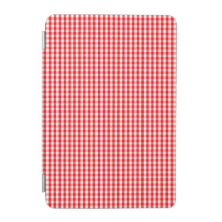 Small Snow White and Christmas Red Gingham Check iPad Mini Cover