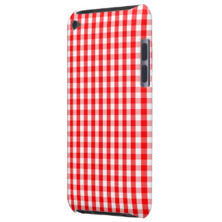 Small Snow White and Christmas Red Gingham Check iPod Touch Cases
