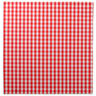 Small Snow White and Christmas Red Gingham Check Napkin