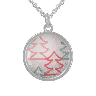 Small SS Christmas Tree Necklace