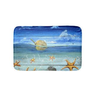 Small Starfish Sky Bath Mat by Yotigo