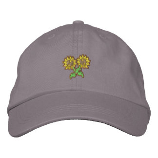 Small Sunflowers Embroidered Hats
