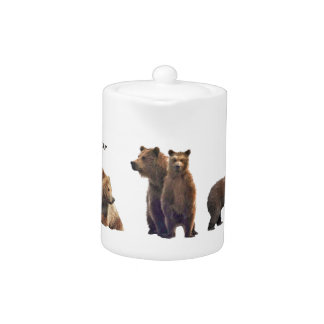 Small Teapot w/ grizzly bears
