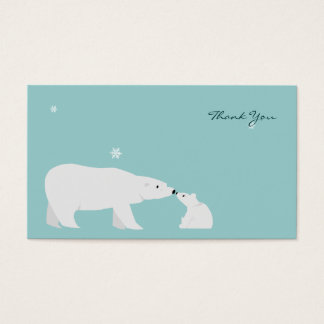 Small Thank You Card: Polar Bear Business Card