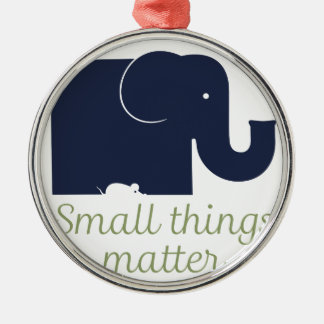 Small things matter.pdf Silver-Colored round decoration