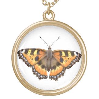 Small Tortoiseshell Vanessa Butterfly Necklace