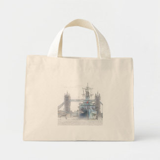 Small Tote Bag - HMS Belfast and Tower Bridge