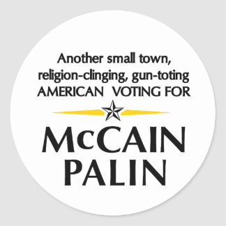 Small town Americans for Palin Sticker
