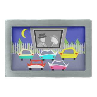 Small Town Drive-In Movie Belt Buckle