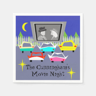 Small Town Drive-In Movie Disposable Napkins Paper Napkin