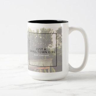 Small Town Girl Two-Tone Coffee Mug