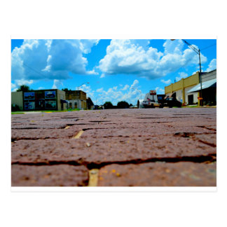 Small Town Main Street Postcard