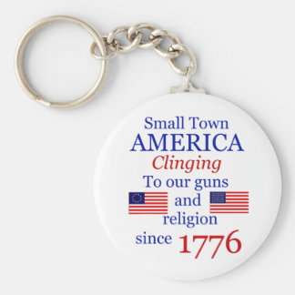 Small Town Proud Keytag Basic Round Button Key Ring