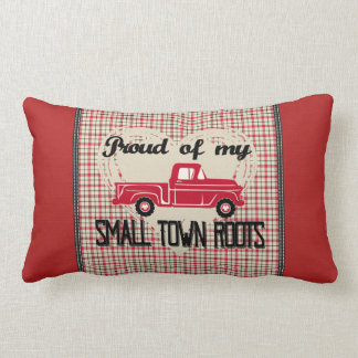 Small Town Roots Lumbar Pillow (Red)