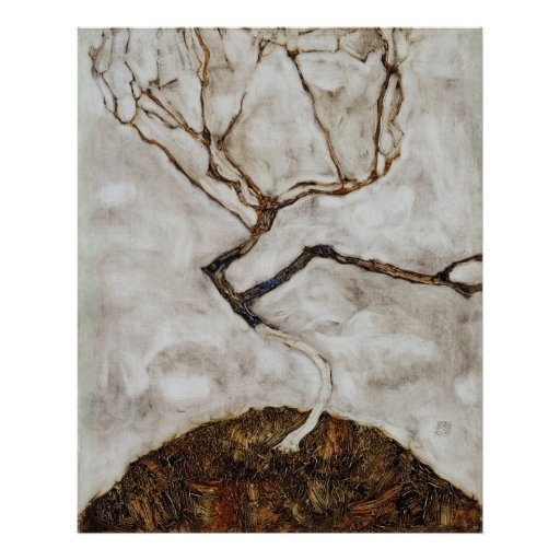 Small Tree In Late Autumn by Egon Schiele Posters