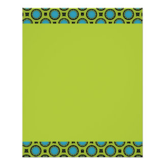 small turquoise green circles flyer