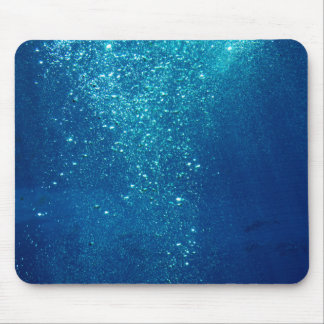 Small Underwater Bubbles Mouse Pad