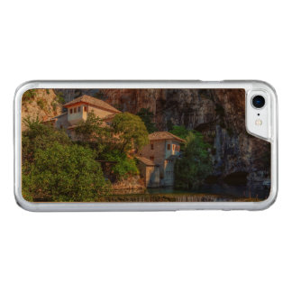 Small village Blagaj on Buna waterfall, Bosnia and Carved iPhone 8/7 Case