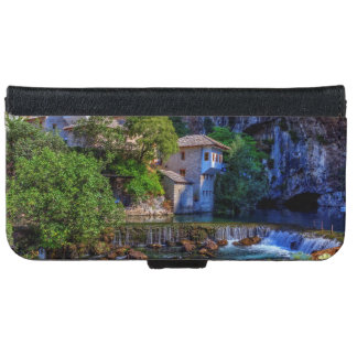 Small village Blagaj on Buna waterfall, Bosnia and iPhone 6 Wallet Case