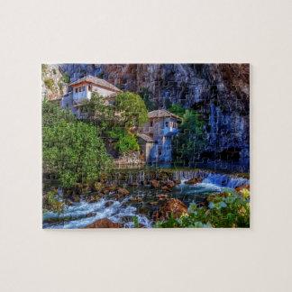 Small village Blagaj on Buna waterfall, Bosnia and Jigsaw Puzzle