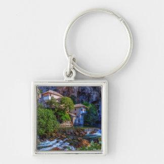 Small village Blagaj on Buna waterfall, Bosnia and Key Ring