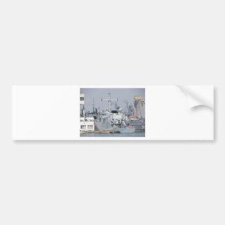 Small Warship Bumper Sticker