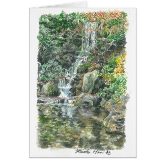 Small waterfall card