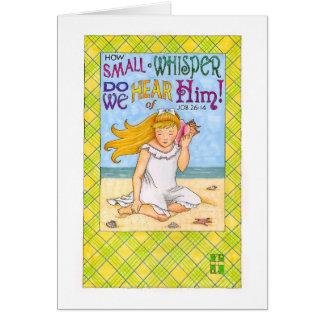 Small Whisper Encouragement Card