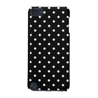 Small White Polka dots black background iPod Touch 5G Case