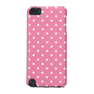 Small White Polka Dots on hot pink iPod Touch 5G Case