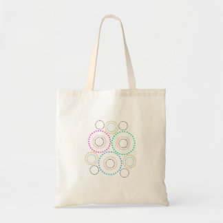 Small white tote bag with circles