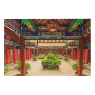 Small Wild Goose Temple, China Wood Wall Art