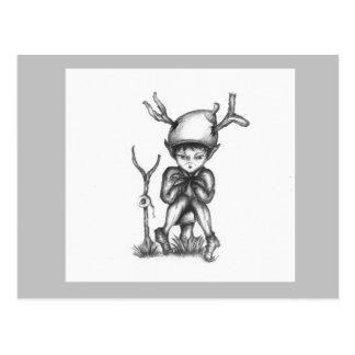 'Small World' Poo Pixie Warrior Postcard