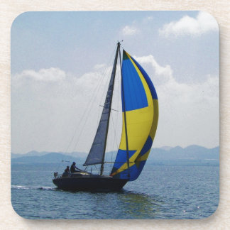 Small yacht big spinnaker. drink coasters