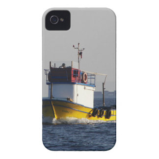 Small Yellow Fishing Boat iPhone 4 Case-Mate Cases