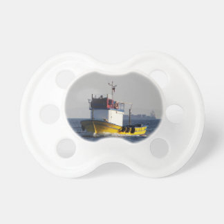 Small Yellow Fishing Boat Baby Pacifiers